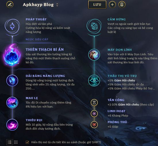 Bảng ngọc Twisted Fate của Dopa