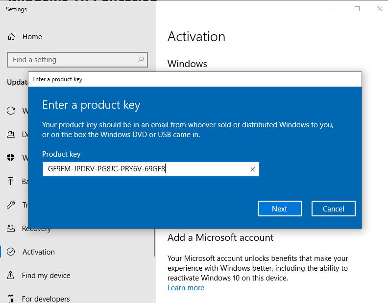3 Key Win 10 Product key cài đặt Windows 10 Pro vĩnh viễn