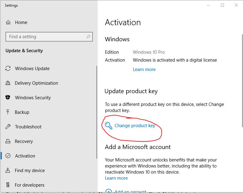 Key Win 10 Product key cài đặt Windows 10 Pro vĩnh viễn