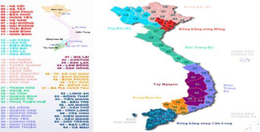 Danh sách các tỉnh thành Việt Nam đầy đủ nhất