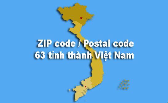Postal Code Việt Nam: Mã bưu chính, bưu điện 63 tỉnh thành