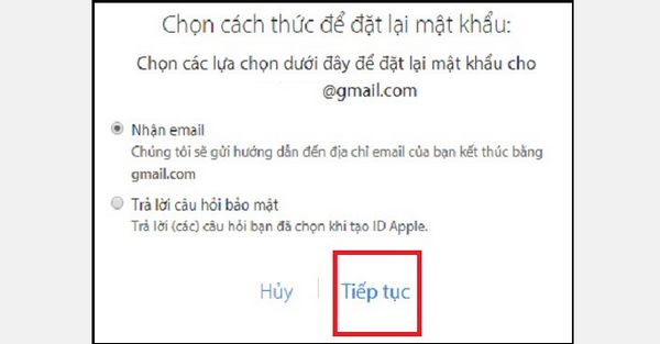 cach lay lai mat khau icloud bang email 2