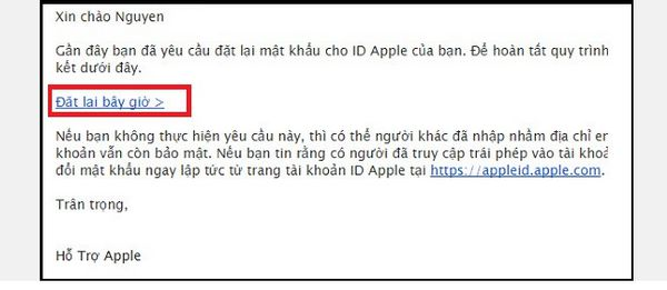 cach lay lai mat khau icloud bang email 3