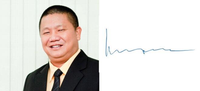 chữ ký ông Lê Phước Vũ