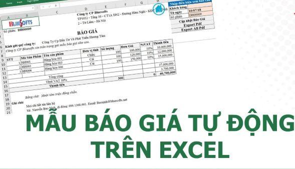 Mẫu báo giá: Bảng báo giá mẫu cho công ty, doanh nghiệp