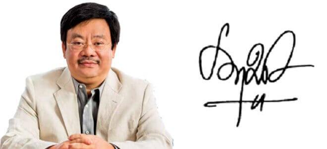 Chữ ký ông Nguyễn Đăng Quang