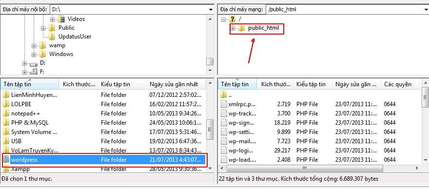 cach upload wordpress huong dan upload website len hosting mien phi