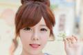Cách búi tóc ngắn Hàn Quốc kiểu dễ thương