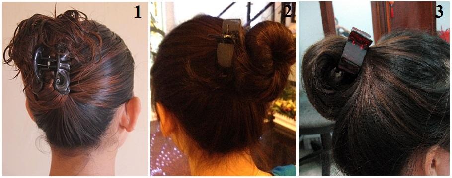 Cách búi tóc ngắn củ tỏi