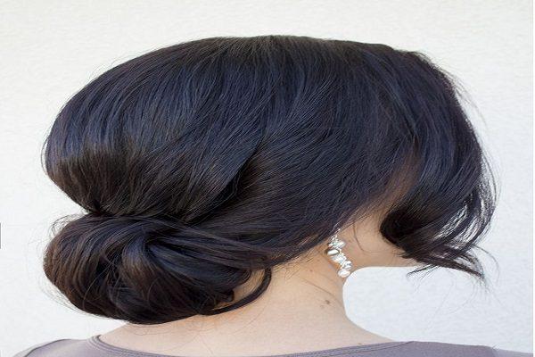 Cách búi tóc ngắn ngang vai