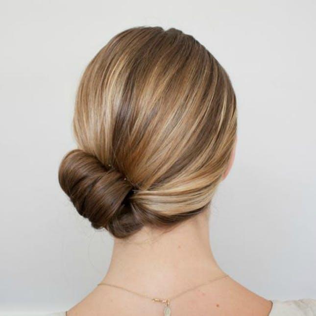 Cách búi tóc ngắn cao