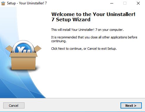 Cài đặt Your Uninstaller Pro Bước 1