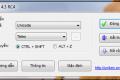 Giao diện chính của phần mềm Unikey