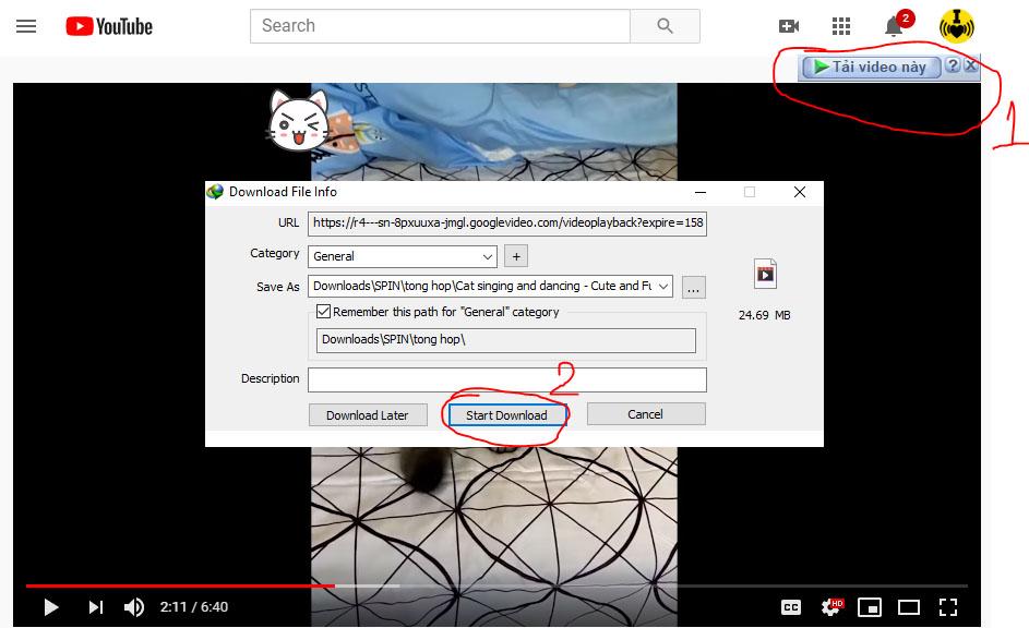 Hướng dẫn cách Download video youtube dùng phần mềm IDM