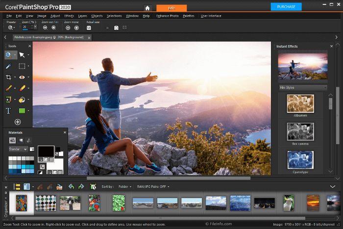 Corel PaintShop Pro cho phép bạn có thể khôi phục, tái chế ảnh cũ, ảnh mờ hoặc kém chất lượng