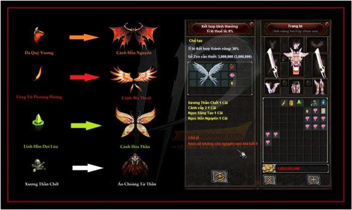 Wing 2.5 là đôi cánh huyền thoại mà nhiều người chơi game mong muốn sở hữu