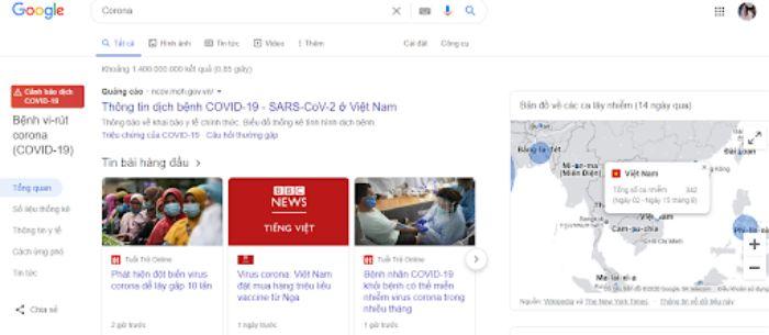 Các website xem thống kê COVID toàn cầu liên tục làm mới thông tin