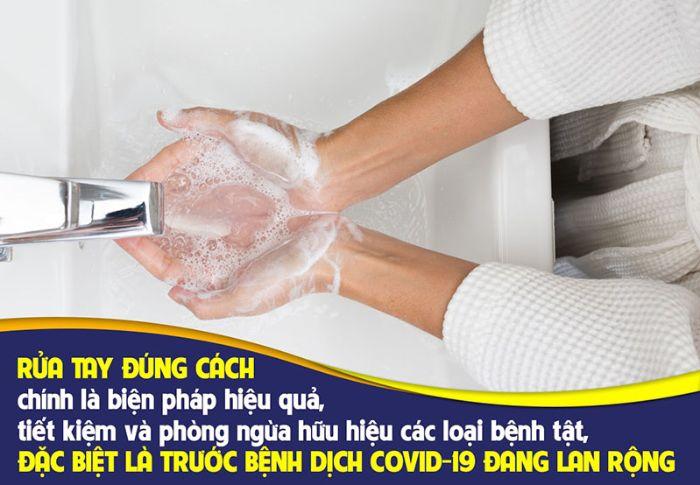 Cách giảm tỷ lệ lây nhiễm COVID là rửa tay, vệ sinh thường xuyên